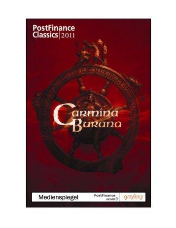 CARMINA BURANA an den PostFinanc - Konzertchor Oberaargau
