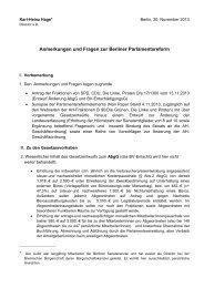 Anmerkungen und Fragen zur Berliner Parlamentsreform