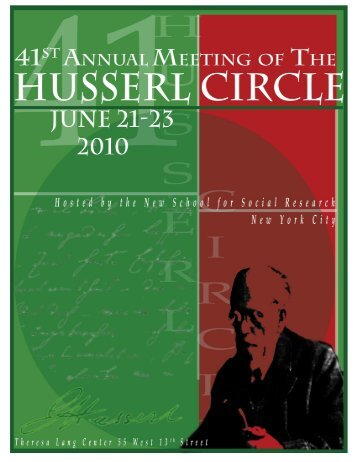 proceedings - the Husserl Circle