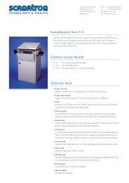 Kontaktkopierer Serie P-11 Erhältlich sind die Modelle ... - Scanatron