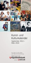 Kunst- und Kulturkalender der HVB - Engagement - HypoVereinsbank