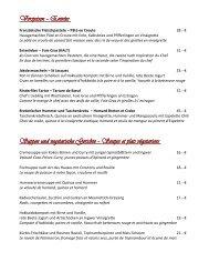 Vorspeisen - Restaurant Le Jardin de France