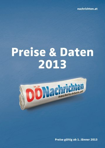 Preise gültig ab 1. Jänner 2013 nachrichten.at en.at