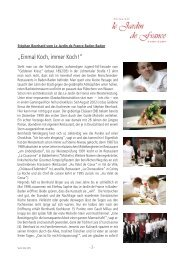 Pressemappe Deutsch (PDF) - Restaurant Le Jardin de France