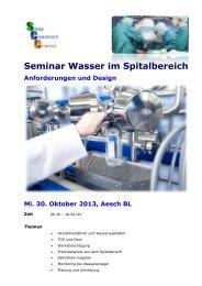 Wasser im Spitalbereich - Swiss Cleanroom Concept