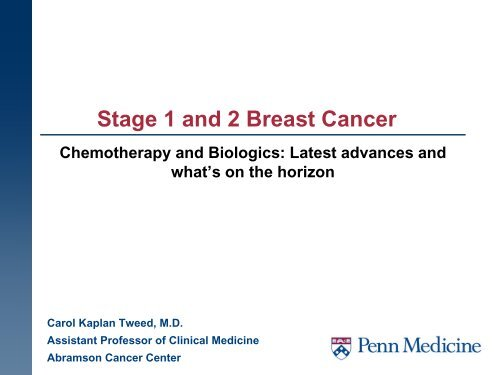 Stage 1 And 2 Breast Cancer Abramson Cancer Center