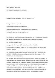 FREIE WÄHLER FRAKTION KREISTAG DES LANDKREISES ...