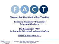 FACT im Master - FACT- Finance Auditing Controlling Taxation