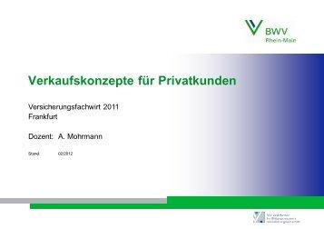 Verkaufskonzepte für Privatkunden - KGM job-training