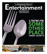 Southeast Texas Entertainment Guide July 28th Issue - The Examiner