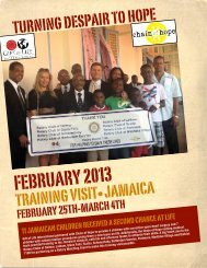 Jamaica Feb. 2013 Mission Book - Gift of Life District 7190