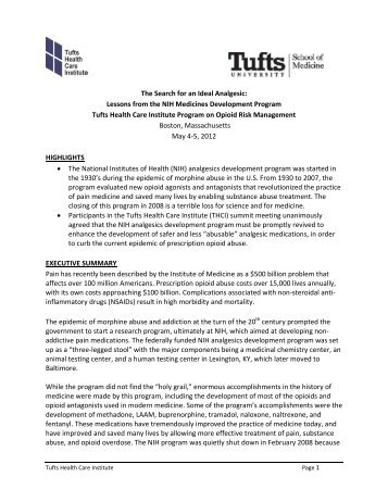 Executive Summary - Tufts Health Care Institute
