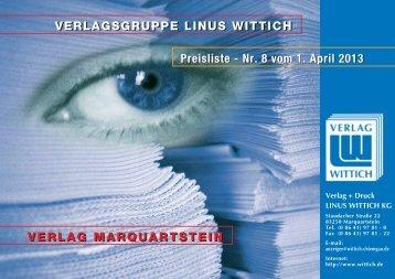 Mediadaten V + D LINUS WITTICH Marquartstein ab 1.4.2013