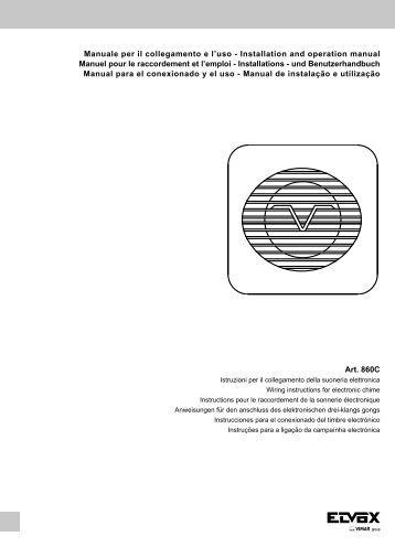 Manuale per il collegamento e l'uso - Installation and ... - Vimar