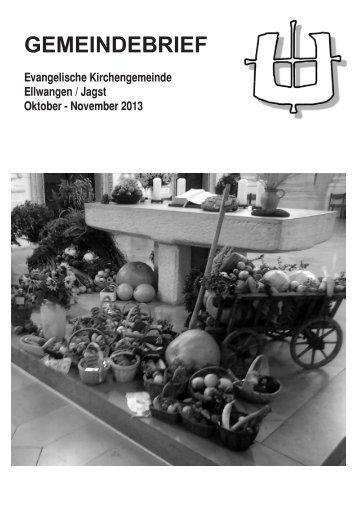 Oktober - November - Evangelische Kirchengemeinde Ellwangen