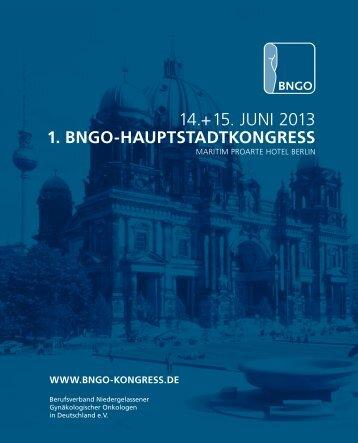 14.+15. JUNI 2013 - bngo-kongress.de