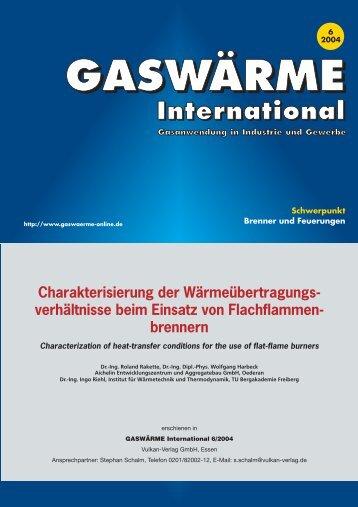 GASWÄRME International 6/2004 - Aichelin