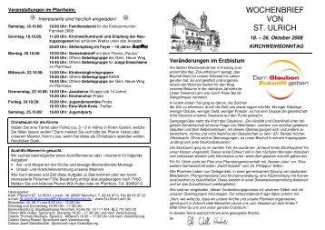 43. KW - Kirchweihfest - 18. - 26.10.08 - St. Ulrich