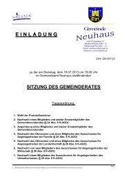 Sitzungseinladung zum Download - Neuhaus