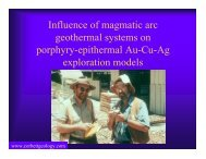 Influence of magmatic arc geothermal systems on porphyry ...