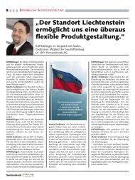"""""""Der Standort Liechtenstein ermöglicht uns eine überaus flexible ..."""