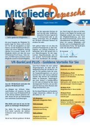 Ausgabe Oktober 2013 - VR-Bank Uckermark-Randow eG
