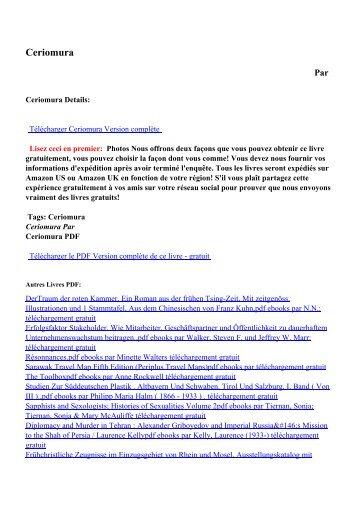 Ceriomurapdf ebooks par téléchargement gratuit
