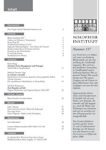 Nummer 157 - Nordfriisk Instituut