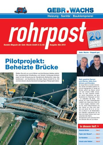 Ausgabe Mai 2010 (PDF) - Gebr. Wachs GmbH & Co. KG