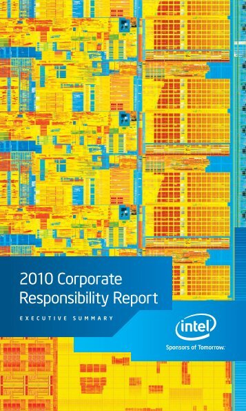 2010 Corporate Responsibility Report ExECutIvE Summary
