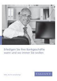 Prospekt: eBanking (PDF, 1734.7 KB) - Valiant Bank