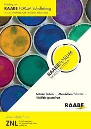 RAABE FORUM Schulleitung - Raabe Schulleitung