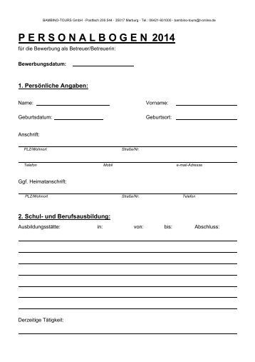 Personalbogen