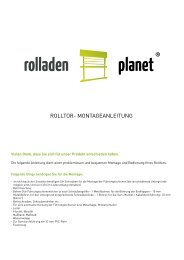 ROLLTOR- MONTAGEANLEITUNG - Rolladen-Rolltore