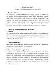 Kurzskript - Lehrstuhl für Bürgerliches Recht, Handels- und ...