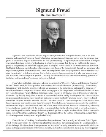 Sigmund Freud - Godandsciences.org