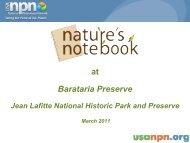 NN at Barataria Preserve 2011 Workshop.pdf - USA National ...