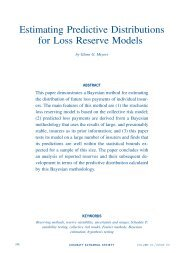Estimating Predictive Distributions for Loss Reserve Models