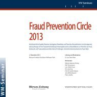 Fraud Prevention Circle 2013 - WM Seminare
