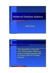 Relational Database Adaptors - XWeave