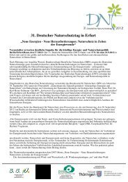 Pressemitteilung 31. DNT in Erfurt - Deutscher Naturschutztag