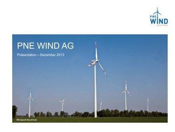 Unternehmenspräsentation - PNE Wind AG
