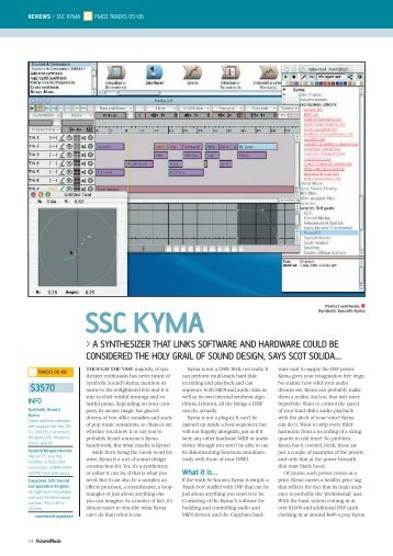 Future Music Magazine June 2004 (PDF) - Symbolic Sound Kyma