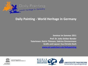 Daily Painting - World Heritage in Germany