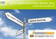 Social Media Recruiting Report 2013 (PDF) - Competitive Recruiting