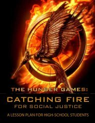Catching Fire for Social Justice Lesson Plan - Idaho Coalition ...