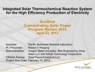 Integrated Solar Thermochemical Reaction System for High ... - EERE