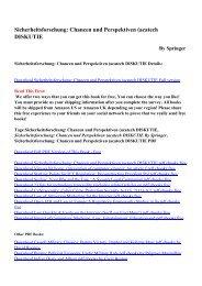 Download Sicherheitsforschung: Chancen und Perspektiven ...