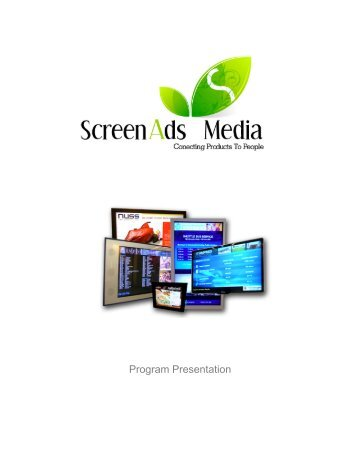 Ad Rates Flyer2 Booklet - Digital Signage Calgary