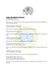 STORY: THE BIRTHDAY ELEPHANT By Dianne de Las Casas ...